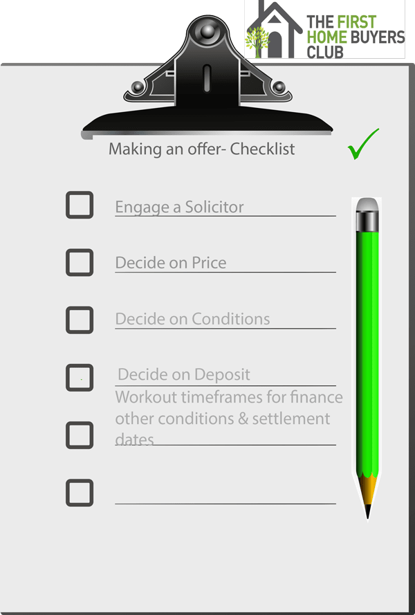 Click here to download your Making an Offer Checklist
