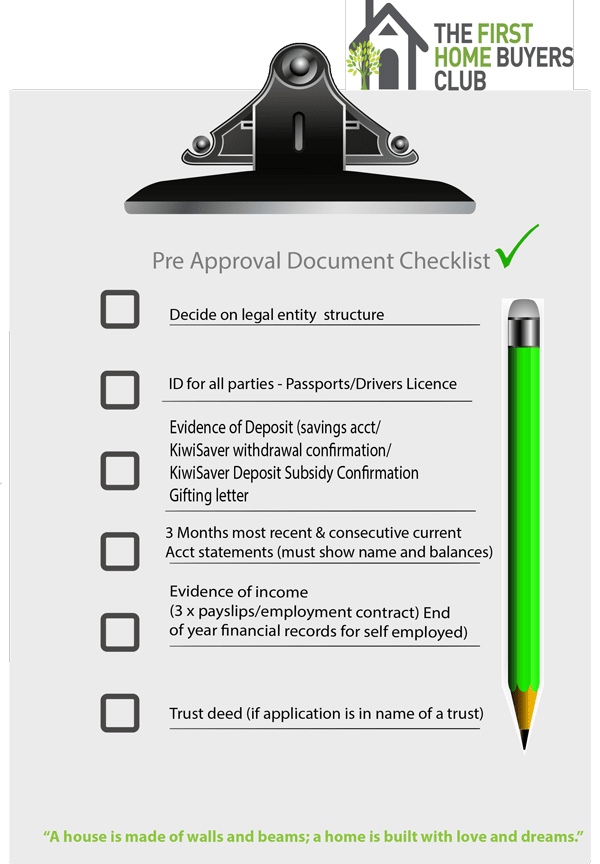 Click here to download your PreApproval Checklist