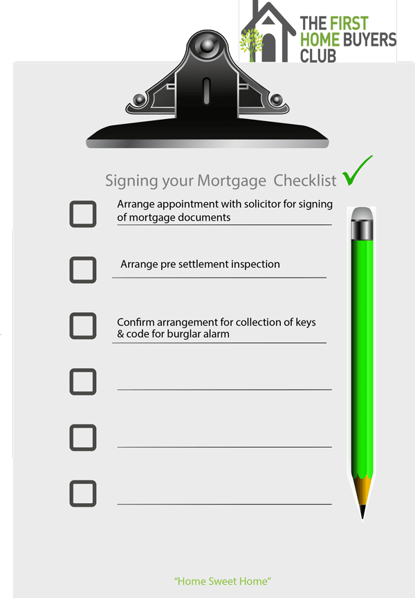 Click here to download your Signing Your Mortgage Checklist